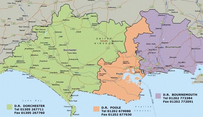 Poole England Map.Contact Dorset Reclaim