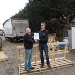 Volunteer Andy wins award