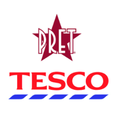 A Big Thank you to Tesco and Pret A Manger
